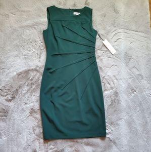 NWT Calvin Klein Green Starburst Dress